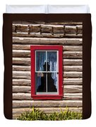 Red Window Log Cabin - Idaho Duvet Cover