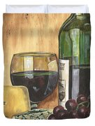 Red Wine And Cheese Duvet Cover