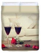 Red Wine Duvet Cover