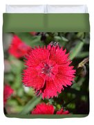Red Winery Flower Duvet Cover