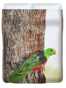 Red-winged Parrot Duvet Cover