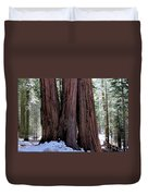 Red Wood Tree Duvet Cover