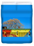 Red Yellow And Blue Building Duvet Cover