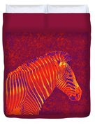 Red Zebra Duvet Cover