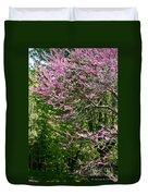Redbud In The Woods Duvet Cover