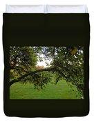 Redbud Tree In Autumn Duvet Cover