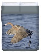 Reddish Egret Dance Fishing Duvet Cover