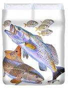 Redfish Trout Duvet Cover