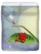 Redfrog And The Dragonfly Duvet Cover