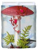 Redfrog And The Magic Mushroom Duvet Cover