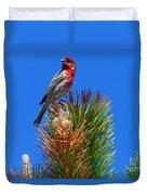 Redheaded Tree Topper Duvet Cover