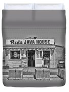 Red's Java House San Francisco By Diana Sainz Duvet Cover