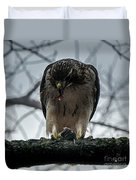 Redtail Hawk And Mouse Duvet Cover