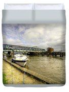 Reedham Swing Bridge  Duvet Cover