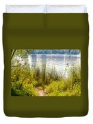 Reeds And Plants Close To The Shore Duvet Cover