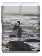Reef Egret Duvet Cover