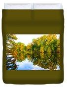Reflected Autumn Glory Duvet Cover