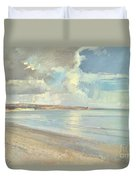 Reflected Clouds Oxwich Beach Duvet Cover