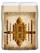 Reflected Taj Mahal Duvet Cover