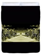 Reflected Yellow Huts  Duvet Cover