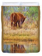 Reflecting Foal Duvet Cover
