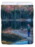 Reflecting On Fall Foliage Reflection Duvet Cover