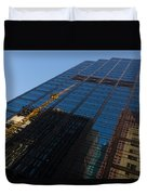 Reflecting On Skyscrapers - Downtown Atmosphere Duvet Cover