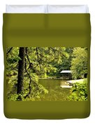 Reflecting On The Beauty Of The Woodlands Duvet Cover