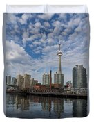 Reflecting On Toronto And Harbourfront  Duvet Cover