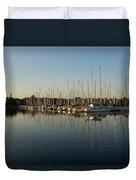 Reflecting On Yachts And Sailboats Duvet Cover