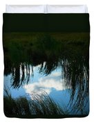 Reflecting The Grass Duvet Cover