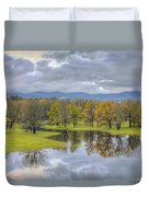 Reflection At Columbia River Gorge Duvet Cover