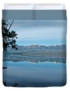 Reflection In Lake Mcdonald In Glacier National Park-montana Duvet Cover