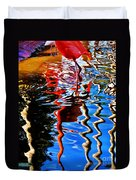 Reflection Of A Flamingo 1 Duvet Cover