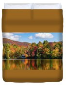 Reflection Of Autumn Trees In A Pond Duvet Cover