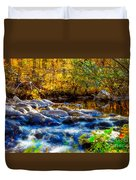 Reflection Of Autumns Natural Beauty Duvet Cover