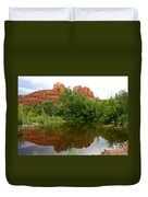 Reflection Of Cathedral Rock Duvet Cover