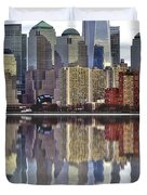 Reflection Of Downtown Nyc Duvet Cover
