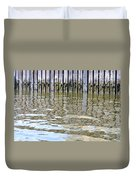 Reflection Of Fence  Duvet Cover by Sonali Gangane