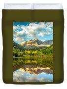 Reflection Of Maroon Bells Duvet Cover