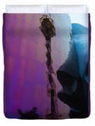 Reflection Of Seattle Space Needle Duvet Cover