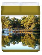 Reflection Of Trees Duvet Cover