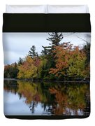 Reflection On The Raquette River Duvet Cover