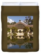 Reflection/lily Pond, Balboa Park, San Diego, California Duvet Cover
