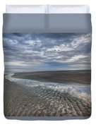 Reflections At Low Tide Duvet Cover