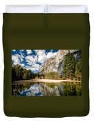 Reflections At Swinging Bridge Duvet Cover