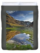 Reflections At The Mountain Lake Duvet Cover