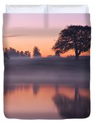 Reflections In A Lake At Dawn / Maynooth Duvet Cover by Barry O Carroll
