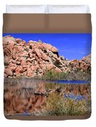 Reflections In Barker Dam By Diana Sainz Duvet Cover