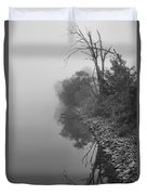 Reflections In Black And White Duvet Cover